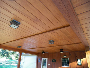 Cypress Ceiling - Cypress provided by Jones and Jones Cypress