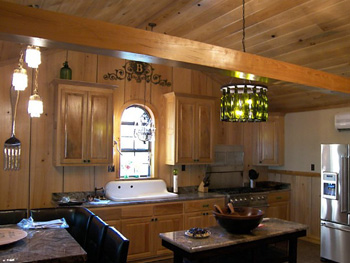 Cypress Paneling, Ceiling and Cabinets - Cypress provided by Jones and Jones Cypress